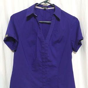 EXPRESS Button down Short Sleeve Top, Size Medium